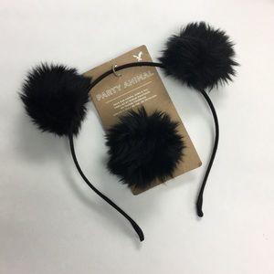 AEO Halloween Black Ears & Tail Set